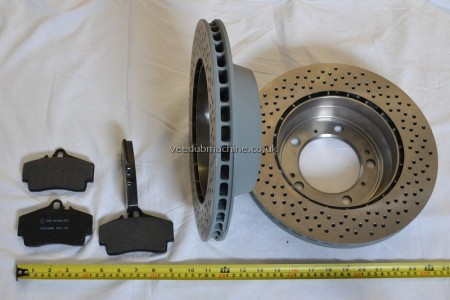 BRAKE DISCS AND PAD REAR TEXTAR 986 987 BOXSTER S CAYMAN S