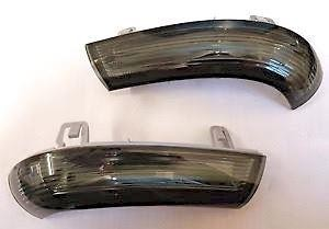 Pair Smoked Mirror Mounted Indicator New For Vw Golf Mk5 And Mk6