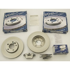 BRAKE PADS & DISCS MEYLE PD FRONT FOR TRANSPORTER T5
