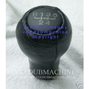5 SPEED LEATHER LOOK SPEED GEAR KNOB M12 THREAD FIT