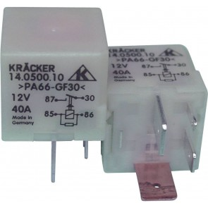 Relay for fuel pump and intake manifold heating, 12 Volt, 40 Amp KRACKER 191906383C 191906383 191906383C 857951253