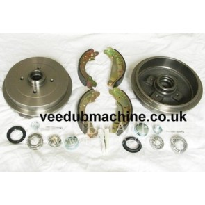 200mm REAR BRAKE DRUM KIT CADDY PASSAT POLO GOLF MK3 CABRIOLET