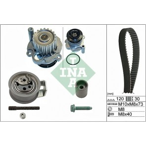 Cam Belt Kit with Coolant Pump INA 1.9 TDi 1997-2010 038198119A, 038198119C