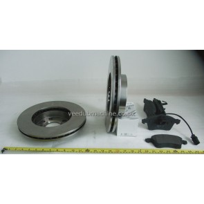BRAKE DISCS AND PADS VENTED FRONT TRANSPORTER T4 96>2003