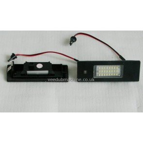 WHITE LED NUMBER PLATE LIGHT SET FOR BMW 1 & 6 SERIES