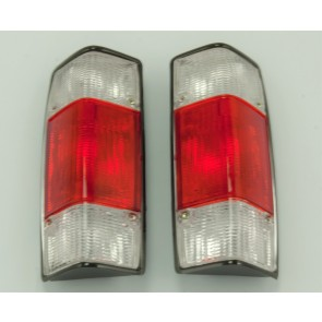 LIGHT CLUSTER PAIR REAR CADDY Mk1 RED CLEAR