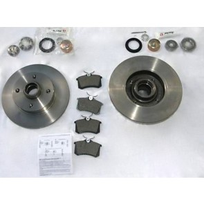 BRAKE KIT REAR INC VAG DISCS GOLF MK2 & CAB CORRADO SCIRROCO