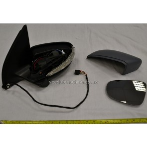 WING MIRROR LEFT FOR GOLF MK6 POWER FOLDING WITH PUDDLE LAMP