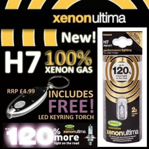 H7 12v 55w +120% RING ULTIMA HEADLAMP KIT 2 BULBS
